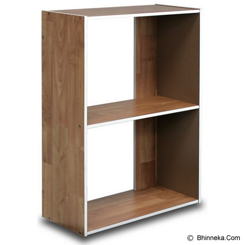 FUNIKA 2 Tier Shelf [11132] - Steam Beech - Rak Serbaguna